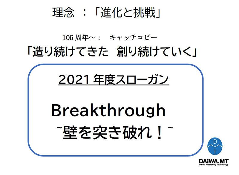 2021年度スローガン